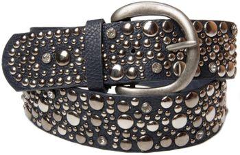 styleBREAKER Nietengürtel im Vintage Style, breiter Gürtel mit Nieten und Strasssteine, Glitzergürtel, kürzbar, Damen 03010020 – Bild 12