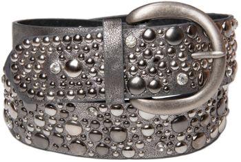styleBREAKER Nietengürtel im Vintage Style, breiter Gürtel mit Nieten und Strasssteine, Glitzergürtel, kürzbar, Damen 03010020 – Bild 16