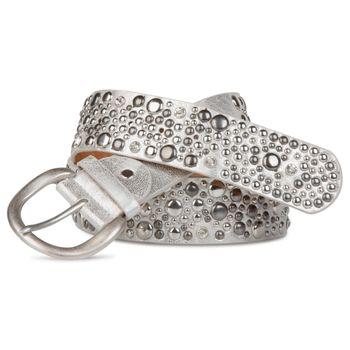 styleBREAKER Nietengürtel im Vintage Style, breiter Gürtel mit Nieten und Strasssteine, Glitzergürtel, kürzbar, Damen 03010020 – Bild 9