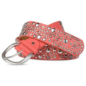 styleBREAKER studded belt in vintage style, wide women's belt with studs and rhinestones, shortened 03010020 – Bild 5