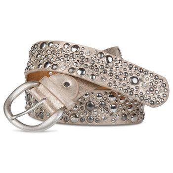 styleBREAKER Nietengürtel im Vintage Style, breiter Gürtel mit Nieten und Strasssteine, Glitzergürtel, kürzbar, Damen 03010020 – Bild 8
