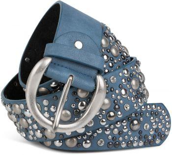 styleBREAKER Nietengürtel im Vintage Style, breiter Gürtel mit Nieten und Strasssteine, Glitzergürtel, kürzbar, Damen 03010020 – Bild 25