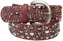styleBREAKER Nietengürtel im Vintage Style, breiter Gürtel mit Nieten und Strasssteine, Glitzergürtel, kürzbar, Damen 03010020 – Bild 14