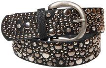 styleBREAKER Nietengürtel im Vintage Style, breiter Gürtel mit Nieten und Strasssteine, Glitzergürtel, kürzbar, Damen 03010020 – Bild 15