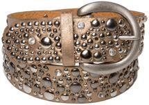 styleBREAKER Nietengürtel im Vintage Style, breiter Gürtel mit Nieten und Strasssteine, Glitzergürtel, kürzbar, Damen 03010020 – Bild 17