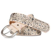 styleBREAKER Nietengürtel im Vintage Style, breiter Gürtel mit Nieten und Strasssteine, Glitzergürtel, kürzbar, Damen 03010020 – Bild 4