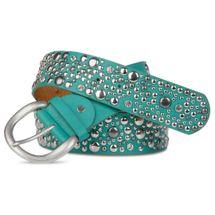 styleBREAKER studded belt in vintage style, wide women's belt with studs and rhinestones, shortened 03010020 – Bild 7