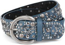 styleBREAKER Nietengürtel im Vintage Style, breiter Gürtel mit Nieten und Strasssteine, Glitzergürtel, kürzbar, Damen 03010020 – Bild 24