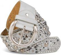 styleBREAKER Nietengürtel im Vintage Style, breiter Gürtel mit Nieten und Strasssteine, Glitzergürtel, kürzbar, Damen 03010020 – Bild 29