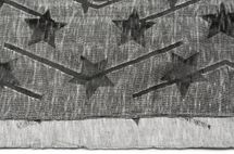 styleBREAKER Loop Schlauchschal Melange Optik mit Sterne Print im Destroyed Vintage Look, Schal, Tuch, Unisex 01017046 – Bild 3