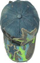 styleBREAKER 6-Panel Vintage Jeans Cap mit Camouflage Stern und aufgedruckter Nummer 52, Used Look, Baseball Cap, verstellbar, Unisex 04023053 – Bild 14