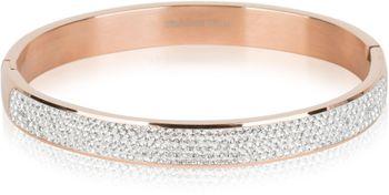 styleBREAKER Armreif aus Edelstahl mit Strasssteinen, Clipverschluss Armband, Schmuck, Damen 05040101 – Bild 1