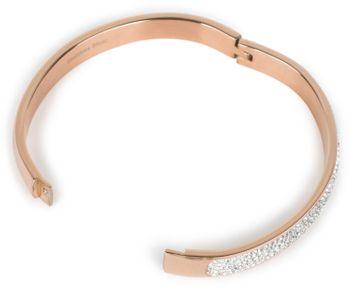 styleBREAKER Armreif aus Edelstahl mit Strasssteinen, Clipverschluss Armband, Schmuck, Damen 05040101 – Bild 3