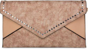 styleBREAKER Envelope Clutch im Kuvert Design mit Nieten, 2-Tone washed Vintage Look, Abendtasche, Damen 02012172 – Bild 1