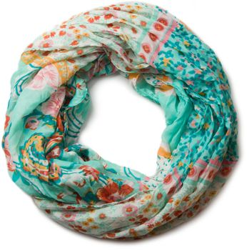 styleBREAKER loop tube scarf with allover floral pattern mix, crash and crinkle, paisley, points, flowers, roses 01014008 – Bild 4