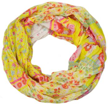 styleBREAKER loop tube scarf with allover floral pattern mix, crash and crinkle, paisley, points, flowers, roses 01014008 – Bild 15