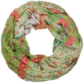 styleBREAKER loop tube scarf with allover floral pattern mix, crash and crinkle, paisley, points, flowers, roses 01014008 – Bild 18