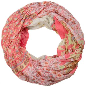 styleBREAKER loop tube scarf with allover floral pattern mix, crash and crinkle, paisley, points, flowers, roses 01014008 – Bild 20