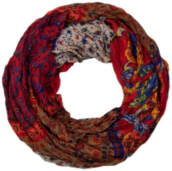styleBREAKER loop tube scarf with allover floral pattern mix, crash and crinkle, paisley, points, flowers, roses 01014008 – Bild 21