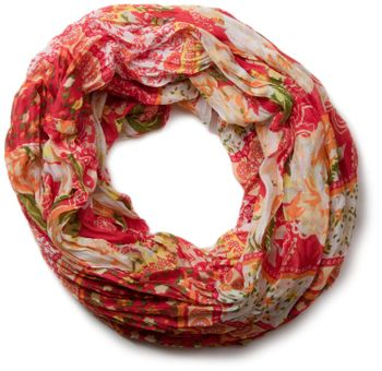 styleBREAKER loop tube scarf with allover floral pattern mix, crash and crinkle, paisley, points, flowers, roses 01014008 – Bild 9