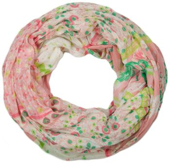styleBREAKER loop tube scarf with allover floral pattern mix, crash and crinkle, paisley, points, flowers, roses 01014008 – Bild 11