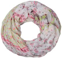 styleBREAKER loop tube scarf with allover floral pattern mix, crash and crinkle, paisley, points, flowers, roses 01014008 – Bild 17