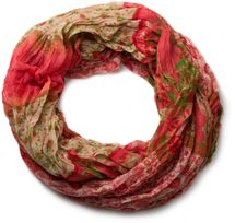 styleBREAKER loop tube scarf with allover floral pattern mix, crash and crinkle, paisley, points, flowers, roses 01014008 – Bild 24