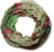 styleBREAKER loop tube scarf with allover floral pattern mix, crash and crinkle, paisley, points, flowers, roses 01014008 – Bild 27