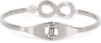 styleBREAKER Infinity Armreif aus Edelstahl mit Strass, Klappverschluss Armband, Schmuck, Damen 05040105 – Bild 2