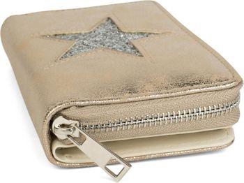 styleBREAKER Geldbörse mit Stern Cutout in Metallic oder Pailletten Optik, Reißverschluss, Portemonnaie, Damen 02040076 – Bild 16