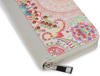 styleBREAKER Geldbörse mit Pailletten Ethno Blumen Muster, Vintage Design, Reißverschluss, Portemonnaie, Damen 02040077 – Bild 8