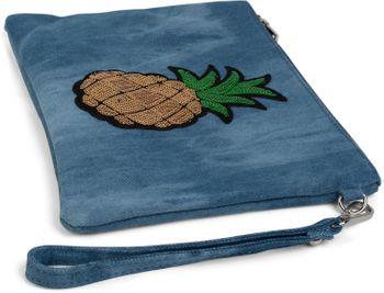 styleBREAKER Jeans Clutch mit glitzer Pailletten Ananas, Schulterriemen und Handschlaufe, Tasche, Damen 02012176 – Bild 5