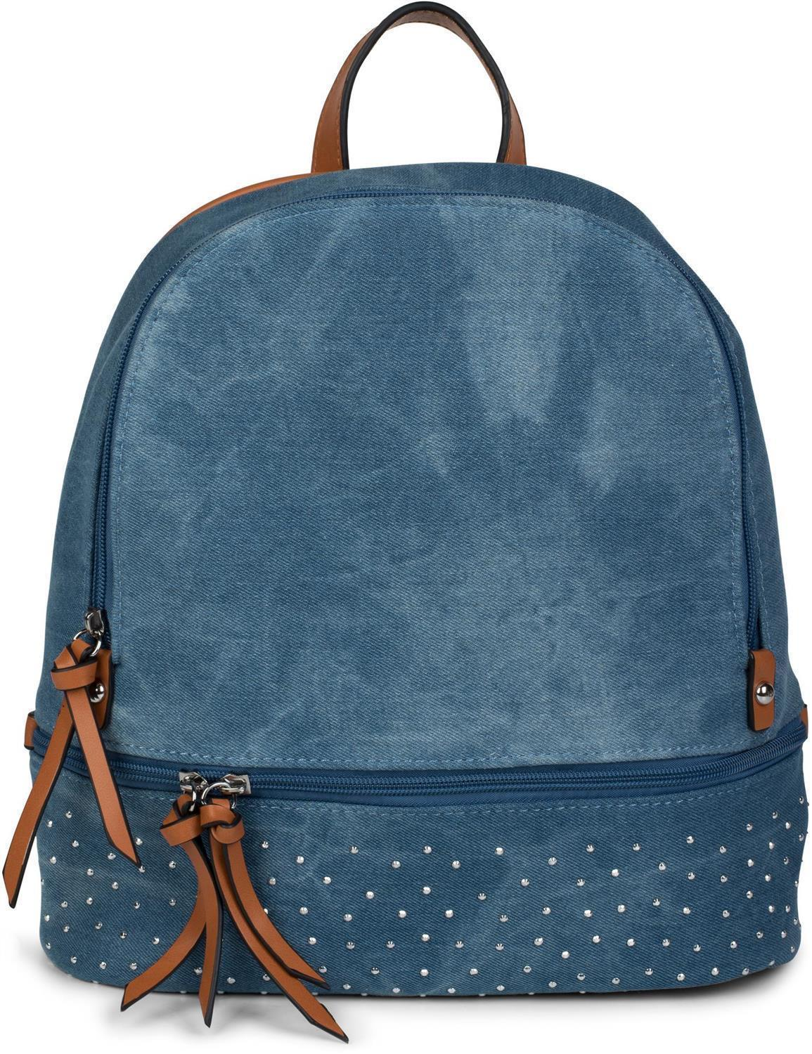 jeans rucksack mit strass 1230. Black Bedroom Furniture Sets. Home Design Ideas