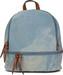 styleBREAKER Jeans Rucksack Handtasche mit Strass und Reißverschluss, Tasche, Damen 02012177