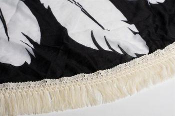 styleBREAKER rundes Strandtuch mit Traumfänger und Feder Print, Fransen Tuch, Badetuch, Pareo, Unisex 05050042 – Bild 8