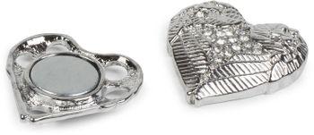 styleBREAKER Magnet Schmuck Anhänger Herz Flügel Design mit Strass für Kleidung, Schals, Tücher oder Ponchos, Brosche, Damen 05050044 – Bild 4