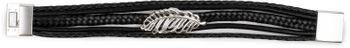 styleBREAKER Armband mit Feder Schmuck Element, Flechtoptik, geflochten, Magnetverschluss, Wickelarmband, Damen 05040106 – Bild 16