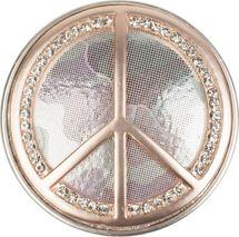 styleBREAKER Peace Magnet Schmuck Anhänger mit Strasssteinen und Camouflage für Schals, Tücher oder Ponchos, Brosche, Damen 05050045 – Bild 1