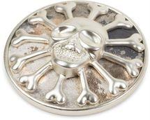 styleBREAKER Totenkopf Magnet Schmuck Anhänger mit Schimmer für Schals, Tücher oder Ponchos, Brosche, Damen 05050047 – Bild 4