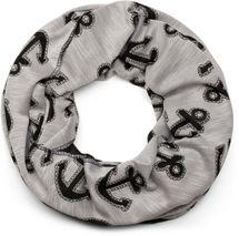 styleBREAKER Loop Schal im maritimen Anker Seil Print Look, Schlauchschal, Tuch, Unisex 01017049 – Bild 4