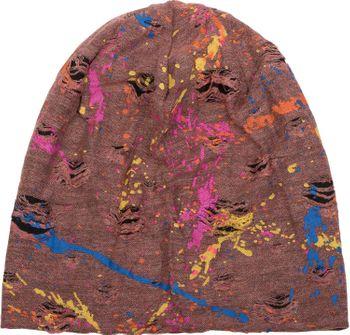 styleBREAKER Beanie Mütze mit Splat Style Farbklecks Muster im Used Look Vintage Design, Slouch Longbeanie, Unisex 04024118 – Bild 9