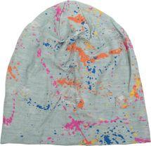 styleBREAKER Beanie Mütze mit Splat Style Farbklecks Muster im Used Look Vintage Design, Slouch Longbeanie, Unisex 04024118 – Bild 11