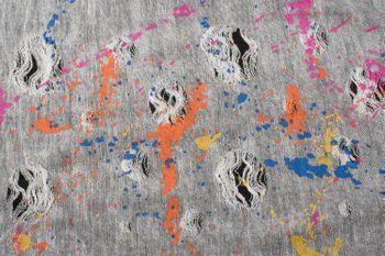 styleBREAKER Loop Schal mit Splat Style Farbklecks Muster im Used Look, Schlauchschal, Tuch, Unisex 01017050 – Bild 9