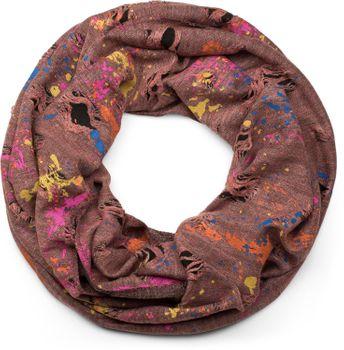 styleBREAKER Loop Schal mit Splat Style Farbklecks Muster im Used Look, Schlauchschal, Tuch, Unisex 01017050 – Bild 3