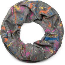 styleBREAKER Loop Schal mit Splat Style Farbklecks Muster im Used Look, Schlauchschal, Tuch, Unisex 01017050 – Bild 1
