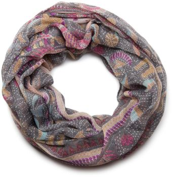styleBREAKER loop tube scarf like animal print and paisley pattern 01014010 – Bild 1