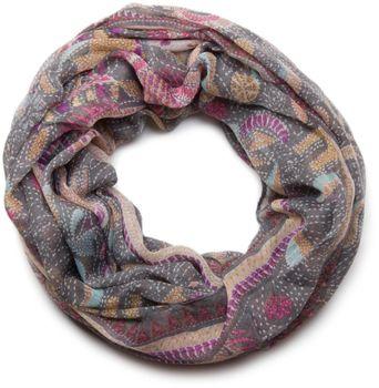 styleBREAKER Loop Schlauchschal mit Animal Print und Paisley Muster, Schal, Tuch, Damen 01014010 – Bild 1