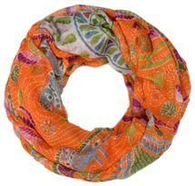 styleBREAKER Loop Schlauchschal mit Animal Print und Paisley Muster, Schal, Tuch, Damen 01014010 – Bild 5