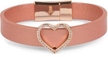 styleBREAKER Armband mit Strass besetztem Herz Schmuck Element, Magnetverschluss, Wickelarmband, Damen 05040111 – Bild 1