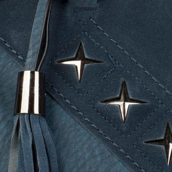styleBREAKER Shopper Tasche mit Metall-Cutout in Stern Form und Quaste, Schultertasche, Umhängetasche, Handtasche, Damen 02012180 – Bild 15